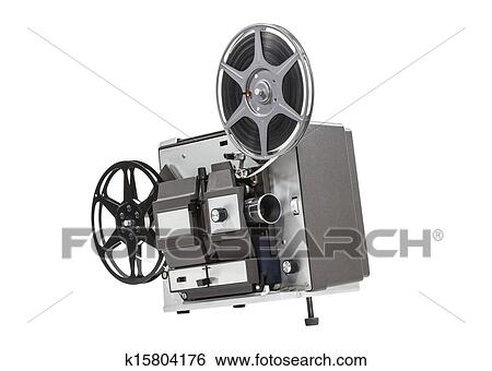 Stock Images Of Old Movie Film Projector Isolated K15804176 Search