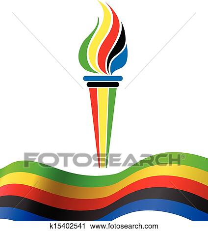 clipart of olympic torch symbol with flag k15402541 search clip rh fotosearch com olympic clipart free olympic clipart borders