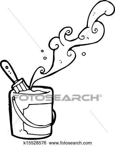 Clip Art Of Paint Bucket Cartoon K15528576 Search Clipart