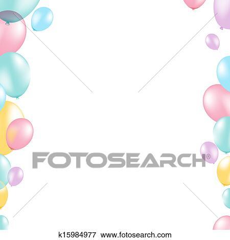 Clip art of pastel balloon border k15984977 search clipart pastel balloon border with gradient mesh vector illustration thecheapjerseys Gallery