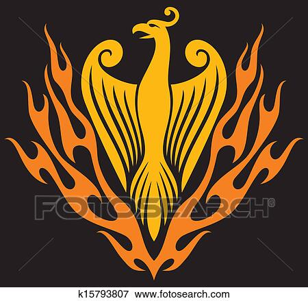 clip art of phoenix bird k15793807 search clipart illustration