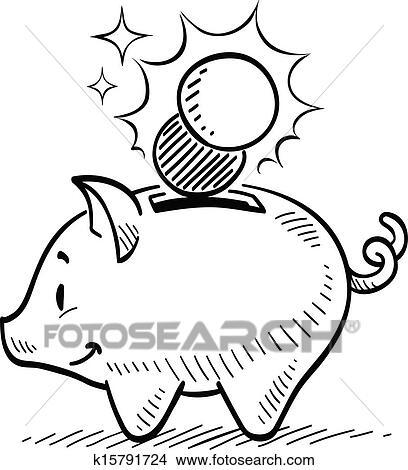 Clipart Of Piggy Bank K15791724