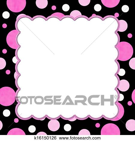 stock images of pink and black polka dot background for your message rh fotosearch com black polka dot background clipart