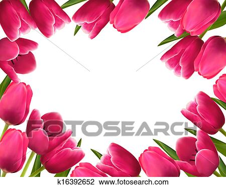 Clipart of pink fresh spring flowers background vector illustration clipart pink fresh spring flowers background vector illustration fotosearch search clip art mightylinksfo