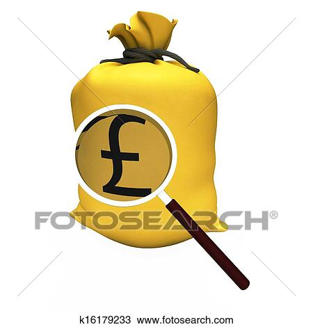Drawing Of Pounds Sack Shows British Money Gbp Or Savings K16179233