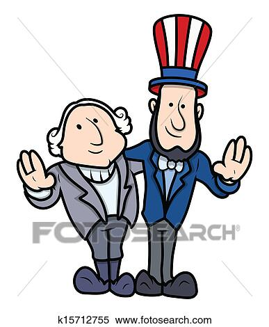 clipart of presidents day cartoon characters k15712755 search clip rh fotosearch com presidents day clip art free presidents day clipart border