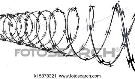 Clipart of Razor Wire Perspective k15878321 - Search Clip Art ...