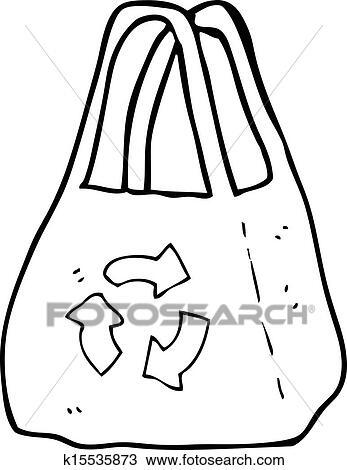 Clipart Of Reusable Bag Cartoon K15535873