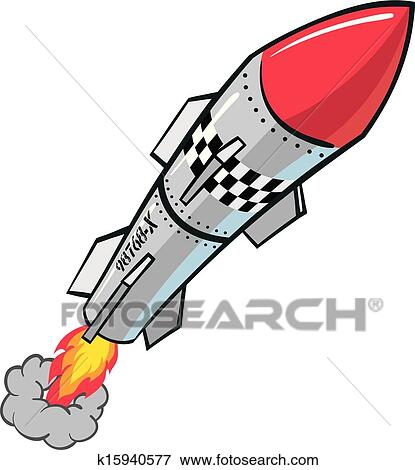 clip art of rocket missile k15940577 search clipart illustration rh fotosearch com missile launcher clipart missile launcher clipart