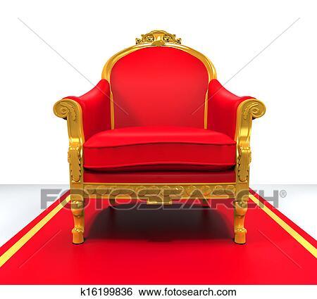banque d 39 illustrations roi tr ne chaise k16199836 recherche de clip arts de dessins d. Black Bedroom Furniture Sets. Home Design Ideas