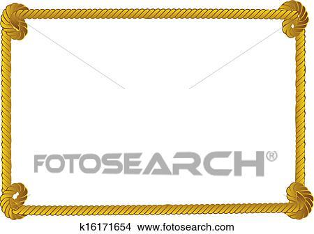 clipart of rope border k16171654 search clip art illustration rh fotosearch com Rope Design Clip Art Cowboy Rope Clip Art