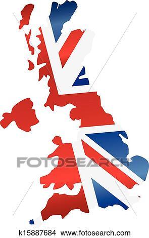 Clipart royaume uni angleterre drapeau carte silhouette k15887684 recherchez des clip - Dessin de l angleterre ...