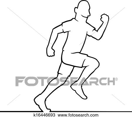 Running Man Clipart