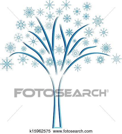 Clipart Schnee Baum K15962575 Suche Clip Art Illustration