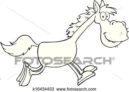 Clipart Schwarz Weiß Pferd Zeichen K16434433 Suche Clip Art