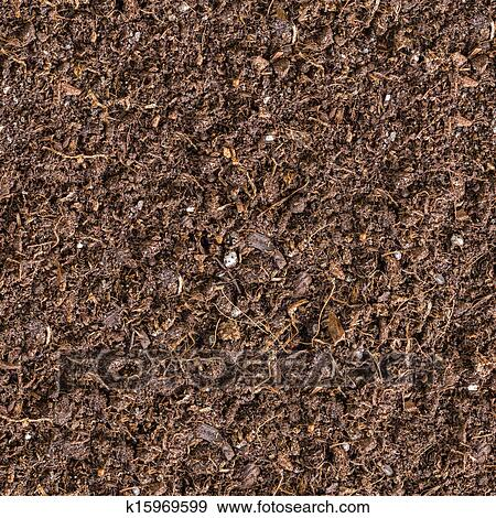 Seamless Tileable Texture Of The Brown Soil