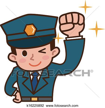 clipart of security guard k16225892 search clip art illustration rh fotosearch com security clip art free security clipart images