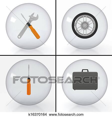 Kresby Set Od Images Na Auto Servis K16370164 Prehľadavaj