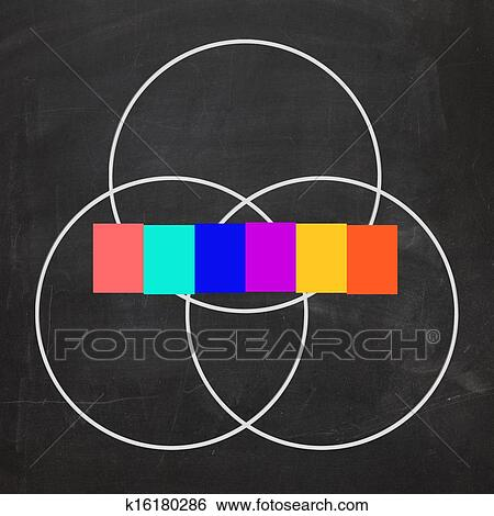 Stock Illustration Of Six Letter Word Venn Diagram Shows Intersect