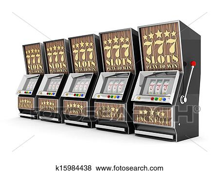 stock illustration of slot machine gamble machine k15984438 rh fotosearch com slot machine cartoon clip art animated slot machine clip art
