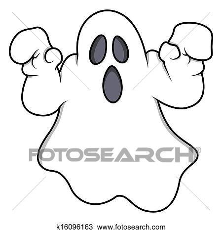 clipart of spooky halloween ghost vector k16096163 search clip art rh fotosearch com cute halloween ghost clipart halloween ghost clipart black and white