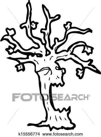 clipart of spooky tree k15556774 search clip art illustration