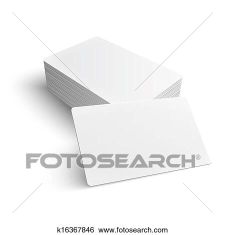 Clip art of stack of blank business card k16367846 search clipart stack of blank business card on white background with soft shadows vector illustration eps10 reheart Gallery