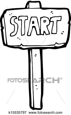 clip art of start sign cartoon k15535797 search clipart rh fotosearch com star clip art printable star clip art images