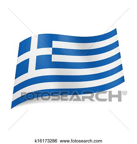 clip art of state flag of greece k16173286 search clipart rh fotosearch com Greece Clip Art Greece Fla