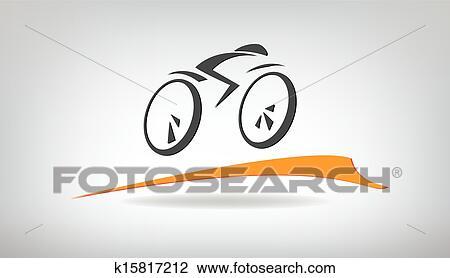 Stilizzato Bicicletta Vettore Illustrazione Clipart