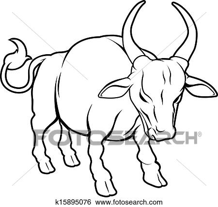 clip art of stylised ox illustration k15895076 search clipart rh fotosearch com ox cart clipart ox clipart black and white