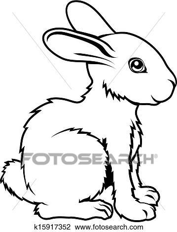 Clipart Of Stylised Rabbit Illustration K15917352