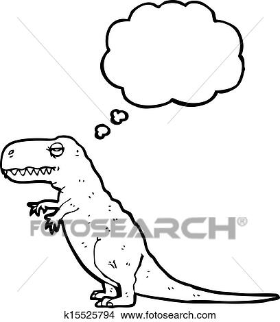 Clipart Of T Rex With Thought Bubble K15525794