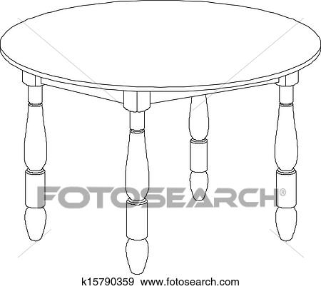 clipart table ronde dessin k15790359 recherchez des cliparts des illustrations des. Black Bedroom Furniture Sets. Home Design Ideas