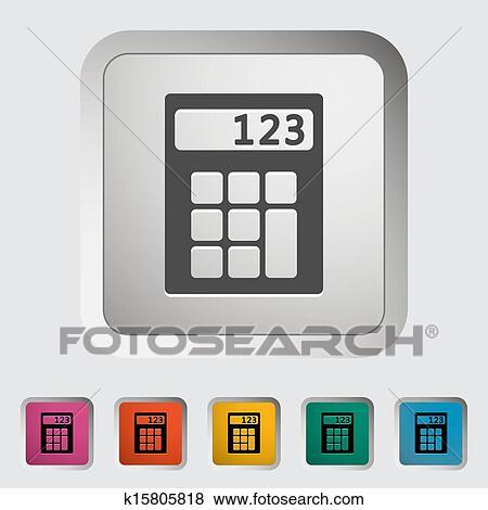 Taschenrechner Icon Clip Art K15805818 Fotosearch