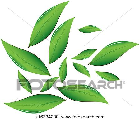 Clipart of tea leaves vector illustration k16334230 search clip clipart tea leaves vector illustration fotosearch search clip art illustration murals thecheapjerseys Image collections