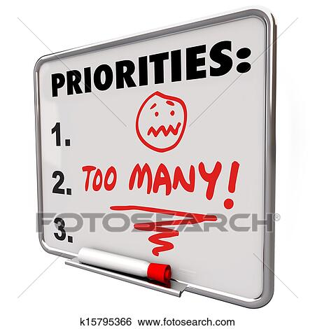 stock images of too many priorities overwhelming to do list tasks