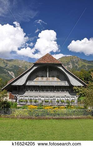 traditional-swiss-country-house-stock-ph