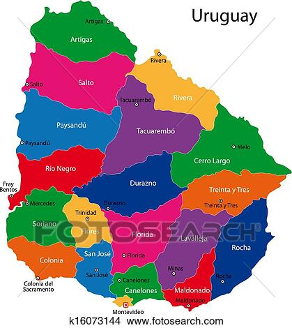 Clipart of Uruguay map k16073144 - Search Clip Art, Illustration ...