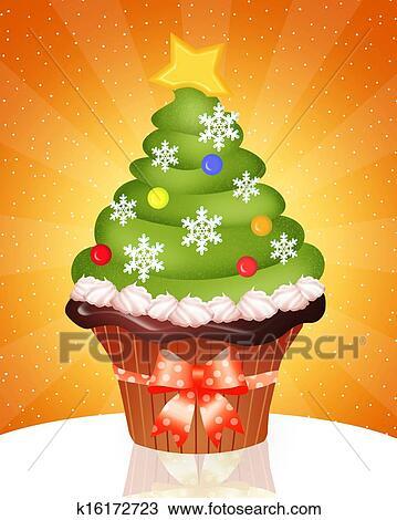 Kresba Vanoce Cupcake K16172723 Hledat Klipart Ilustrace