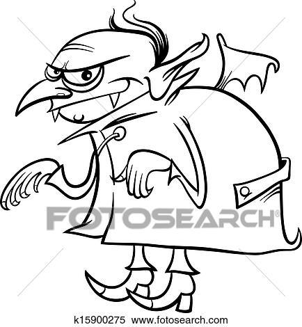 Clipart - vampir, karikatur, für, ausmalbilder k15900275 - Suche ...