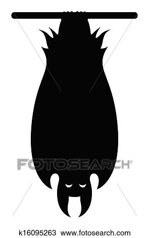 clipart of vampire bat hanging silhouette k16095263 search clip