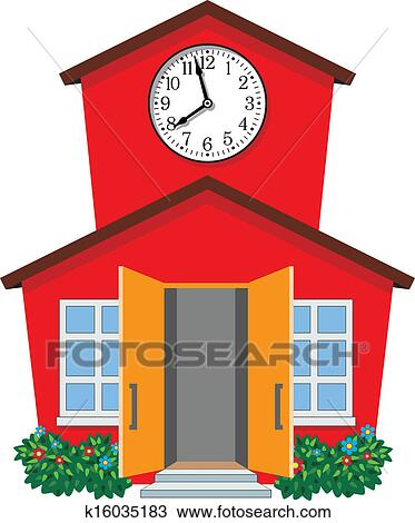 clipart of vector country school building k16035183 search clip rh fotosearch com