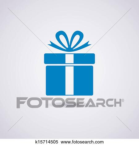 Clipart of vector gift box icon k15714505 search clip art clipart vector gift box icon fotosearch search clip art illustration murals negle