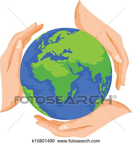 Vector Of Save Earth Clipart K15801490 Fotosearch