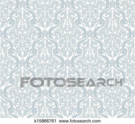 Clipart Of Vintage Middle Eastern Arabic Pattern K60 Search Delectable Middle Eastern Patterns