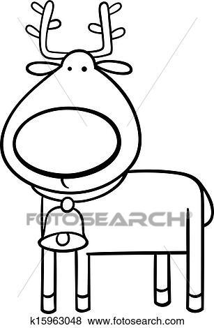 Clip Art - weihnachten, rentier, färbung, seite k15963048 - Suche ...
