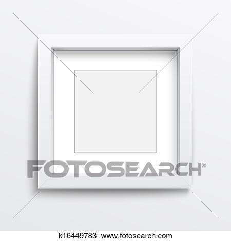 Drawing of White square frame on gray wall. k16449783 - Search ...