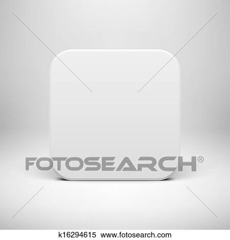 Clipart of White Technology App Icon Blank Template k16294615 ...