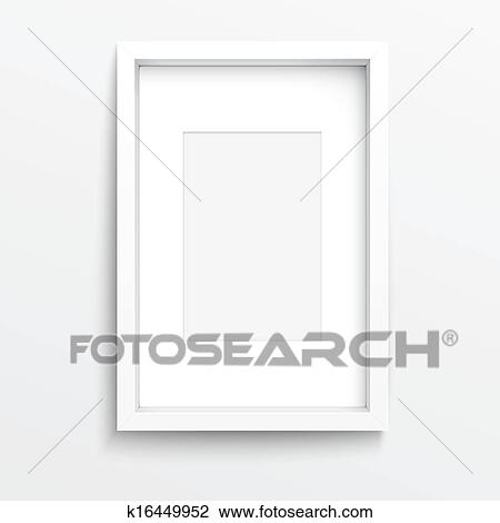 Clipart of White vertical frame on gray wall. k16449952 - Search ...